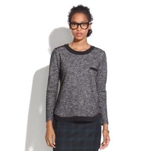 MADEWELL Marled Contrast Sweater